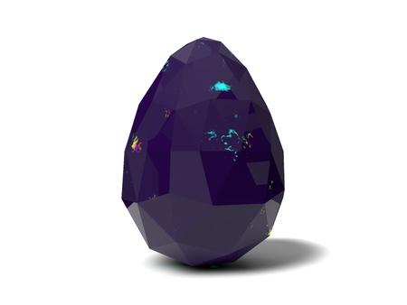 jeweled: easter egg crystal.purple version