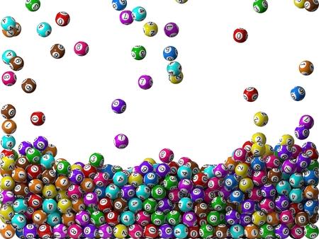 lottery win: lottery balls rain, filling screen.big balls version.
