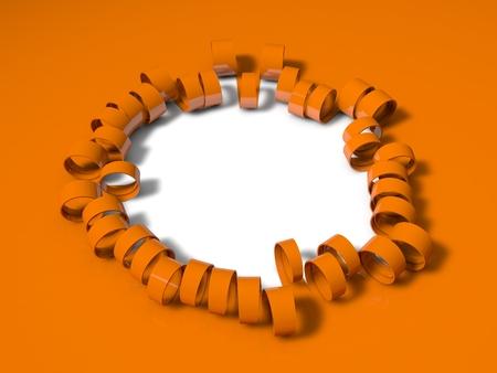 unfold: 3d folding stripes, orange version