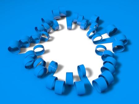 unfold: 3d folding stripes, blue version Stock Photo