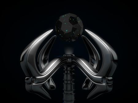 robotic: robotic hand and crystal