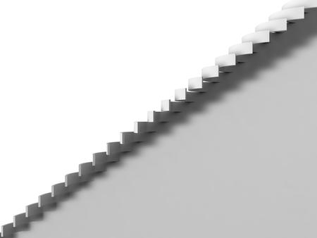 clones: folding stripes on white background. Stock Photo