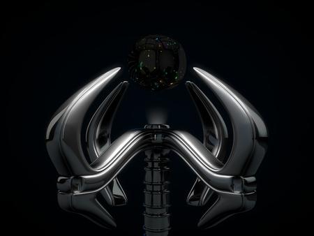 mano robotica: mano rob�tica y cristal