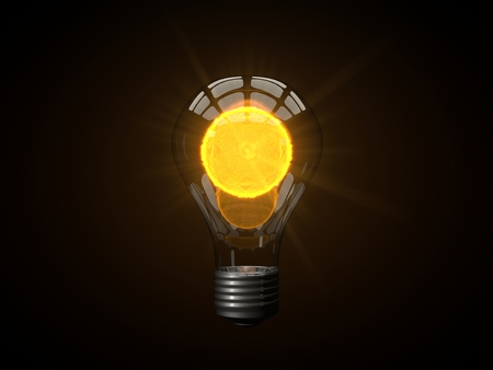 lamp power: micro sun powered lamp Stock Photo