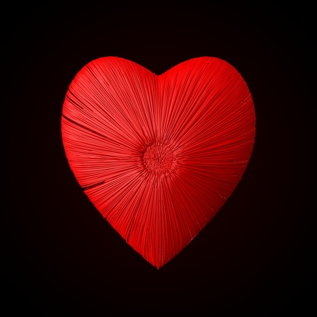 sectoral: heart formed red wires