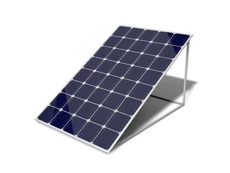 paneles solares: Panel solar 3d. solated en blanco. Foto de archivo