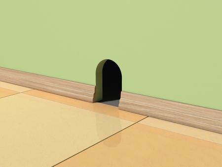 3d mouse: 3d mouse home illustration