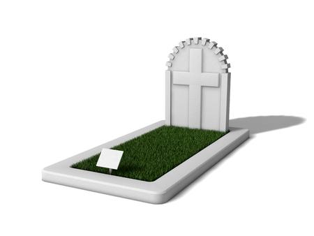 rip: 3d gravestone design with grass