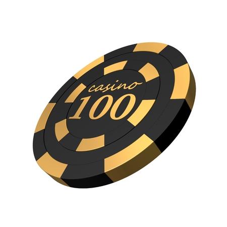 casino chips: 3d smooth black premium casino chip
