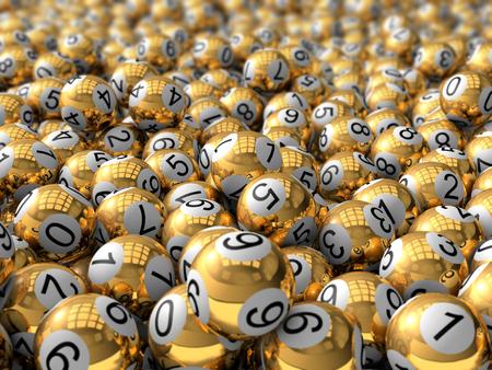 3 d 黄金抽選ボール。電界効果の深さと