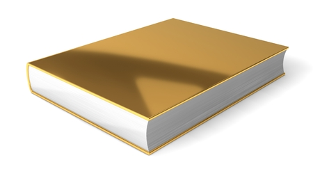 isolaten: 3d golden book. isolaten on white