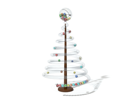 christmas toy: Christmas lottery tree. conceptual 3d design.