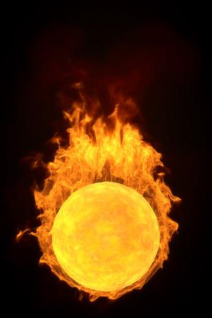 3d fire ball.computer simulation