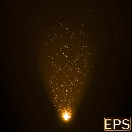 beam: energy beam with particles. golden color version.