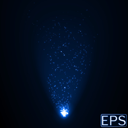 beam: energy beam with particles. blue version.