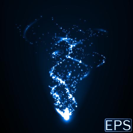 エネルギー ビーム粒子と詳細スムート エネルギー コース。青バージョン。