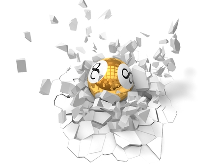 loteria: poderosa bola de la loter�a golpe, vista lateral