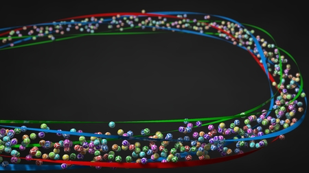 flock: flock of lottery ball. lottery theme with free area for text.with detph of field effect.