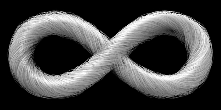 infinity symbol: infinity symbol with smooth.isolated on black.