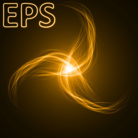 spiritual energy: smooth energy lines. trio way lines and golden colored version.