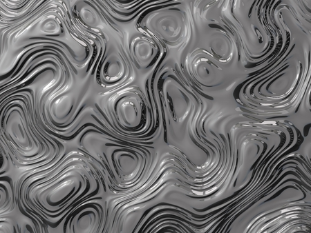 sculpted: 3d illustration of metalic curves and waves. abstract background concept.