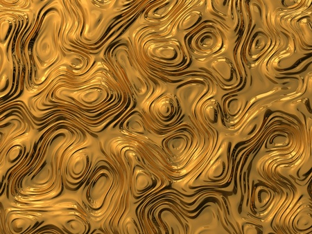 displacement: 3d illustration of metalic curves and waves. abstract background concept.