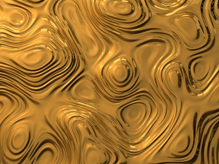 3d illustration of metalic curves and waves. abstract background concept.