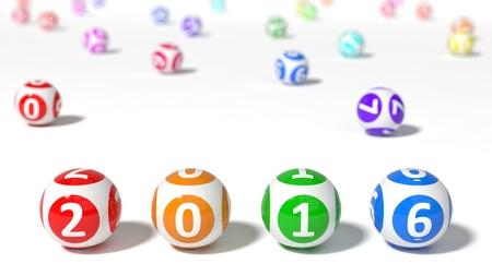 millonario: 3d ilustración de bolas de la lotería. palabra con las bolas de la lotería. aislado sobre fondo blanco.
