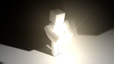 sacred source: simple cubic character and sacred light source.