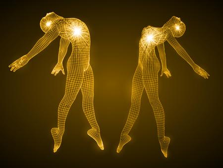 ダンス男と女の数字のエネルギー。