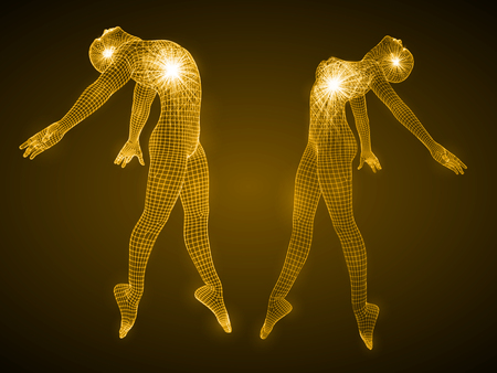 energy of the dancing man and girl figures.