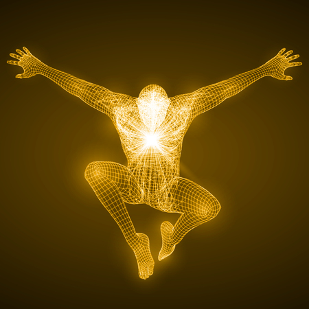 spectre: energy of the free falling man figure.