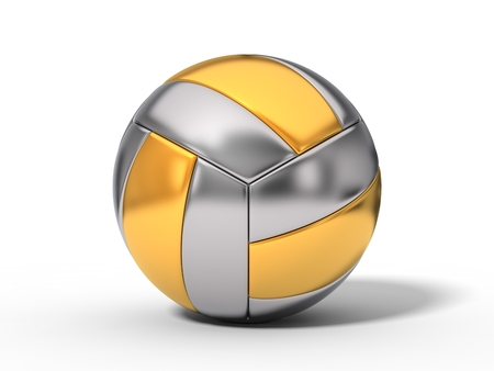 volley: simple volleyball ball. Stock Photo