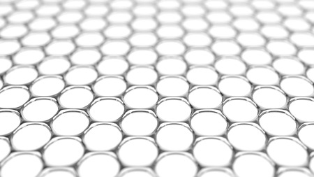 conceptual 3d illustration of graphene structure. Stock Photo