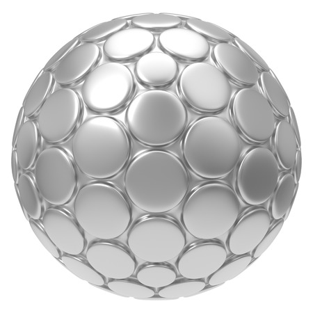 3d illustration of hexagon plated circular shapes. Reklamní fotografie
