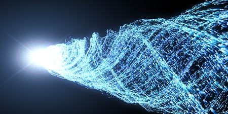 concept of energy particles and light core. 3d illustration