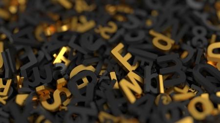 stack of letters. 3d illustration