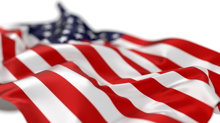 American flag, 3d illustration. Stock Photo