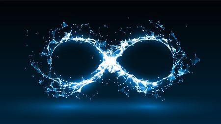 Vector illustration of infinity symbol Illustration