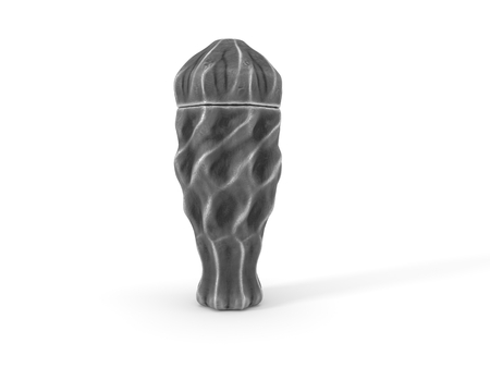 gothic style funeral urn. 3d illustration