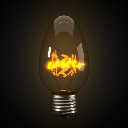 easter egg concept with egg shaped idea lamp. 3d illustration, suitable for easter,technology and business themes.