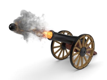 ramadan cannons shot moment. 3d illustration Stock Photo