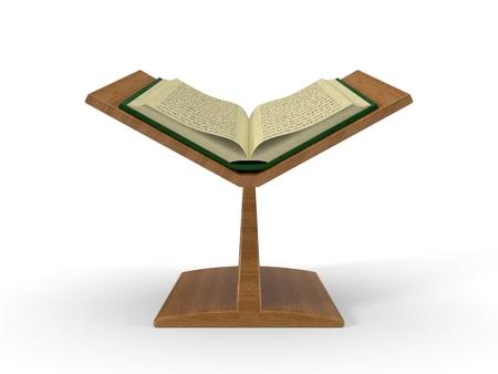 quran on book platform. 3d illustration