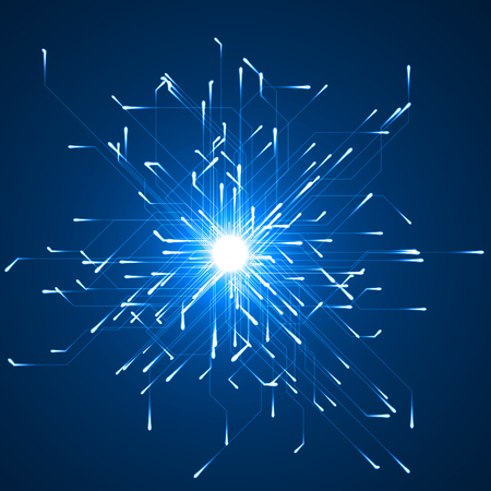 geometrically moving particules with energy trails. suitable for data, internet, energy, digital and technology themes.