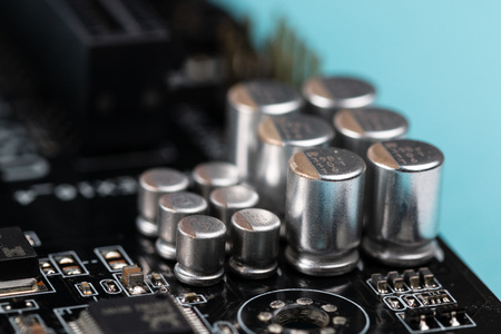 used pc motherboard macro view Imagens