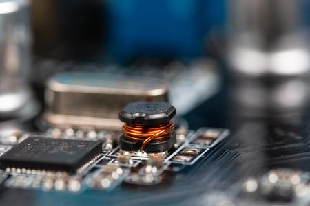 used pc motherboard macro view Stock fotó