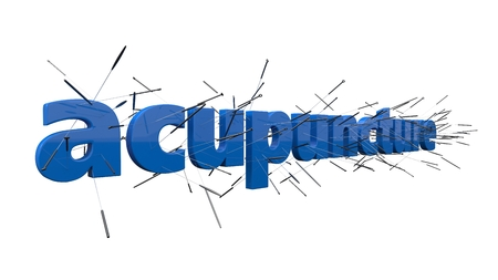 acupuncture concept with text. 3d illustration