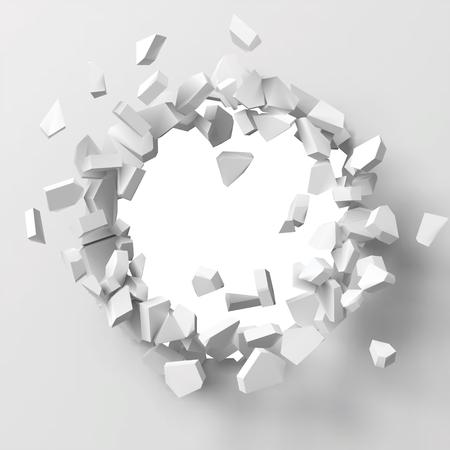 illustration vectorielle de mur qui explose avec zone libre au centre pour tout objet ou arrière-plan. Convient à tout logo, objet ou arrière-plan révélant une situation pour une bannière, une publicité ou d'autres usages