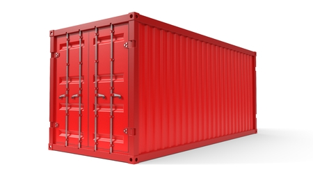 simple shipment container on white. 3d illustration