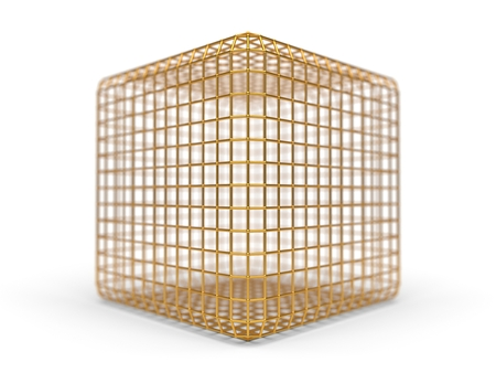 simple faraday cage design made of iron. 3d illustration Stock Photo